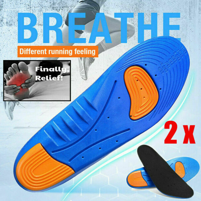 1 Pair Blue Orthotic Sports Running Insoles Insert Shoe Pad Arch Support Cushion