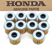 New Genuine Honda 10 Oil Filters CRF 150 250 450 R X TRX450R ER (See Notes) #M62