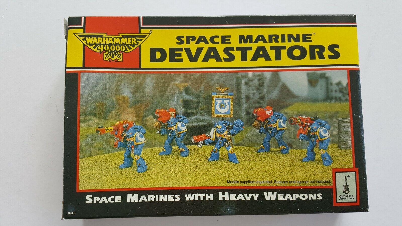 ordina ora i prezzi più bassi RARE Vintage spazio Marine Devastators Squad WARHAMMER 40K 40K 40K completo con extra  qualità autentica