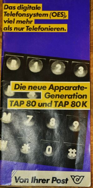 Alte Beschreibung Eines Alten Post Tastentelefons Tap 80 (k), Guter Zustand!!
