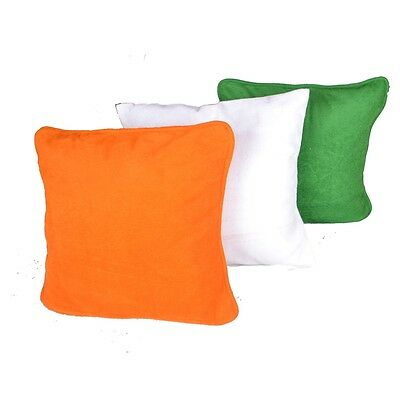 meSleep Tri-Color Independence Day Cushion Cover (16X16)