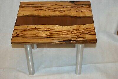 ZEBRANO Tisch Epoxy Epoxid harz glasklar Holz Massiv River Table 55 x 45,5 cm | eBay