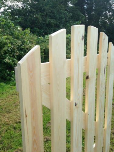 Solid arch top redwood garden gate ledged and braced hand made in the UK