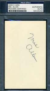Mel-Allen-PSA-DNA-Coa-Autograph-Hand-Signed-3x5-Index-Card