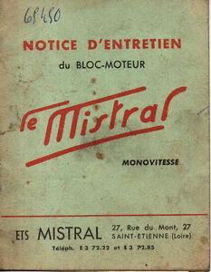 CréAtif Notice Et Entretien Du Moteur Le Mistral Mobylette