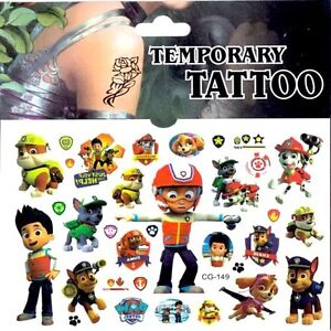 Cartoon-Kids-Temporary-Tattoo-Sticker-Party-Supplies-Lolly-Loot-Bag-Cake-Banner