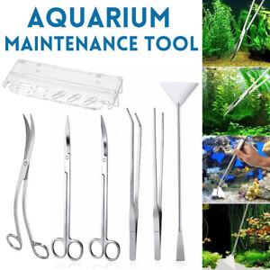 Stainless-Steel-Aquarium-Tools-Aquascaping-Tank-Aquatic-Plant-Tweezers-Scissors