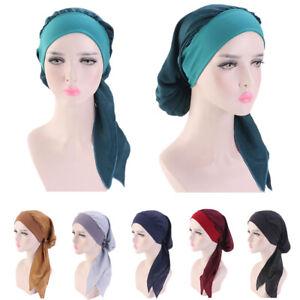 Muslim Women Cancer Cap Beanie Hair Loss Turban Hat Scarf India Headwear Arab