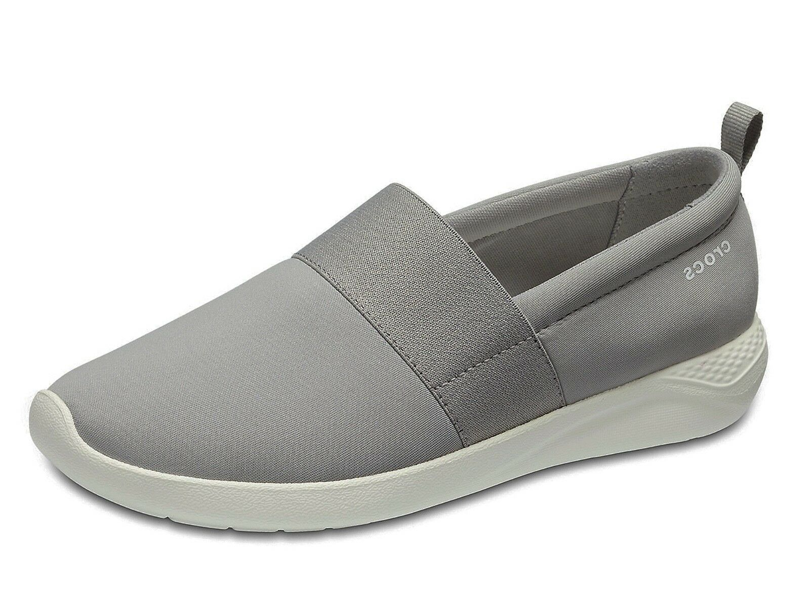 Crocs NEW Literide slip on light grey trainers white comfort shoes womens trainers grey UK 3-9 21bdb9
