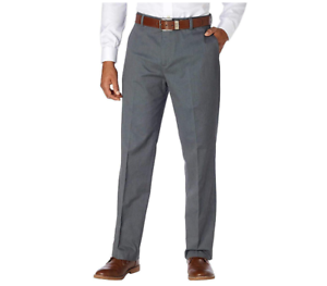 Kirkland Signature Men/'s 100/% Wool Flat Front Dress Slack Pants 38x32 Light Grey