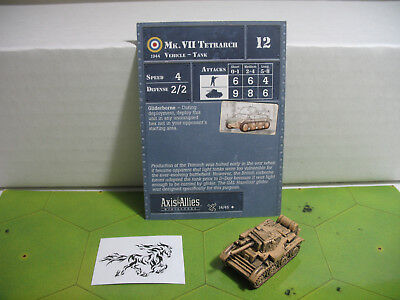 Axis & Allies Vii Tetrarch With Card 14/45 Moderate Cost Axis & Allies D-day Mk Toys & Hobbies