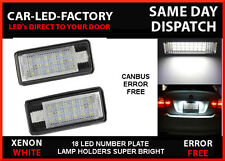 AUDI A8 S8 D3 2003-07 LED LIGHTS UPGRADE NUMBER PLATE HOLDERS 6000K (4E)