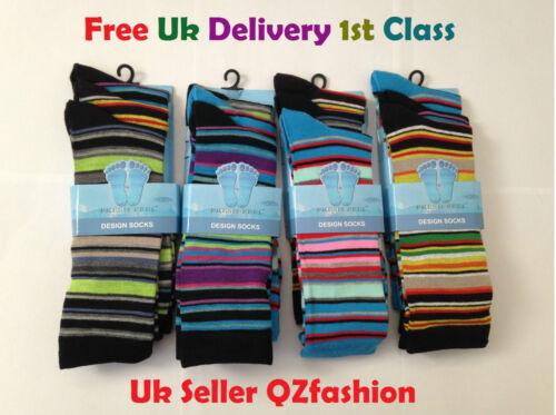 3X 6X Calcetines para hombre Chicos Diseño Casual Sentir Fresco Calcetines UK Size 6-11 12X