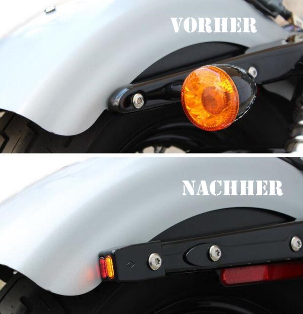 IOMP LED Blinker 3 in 1 Fender Struts Typ 2 HD Sportster XL 883/1200