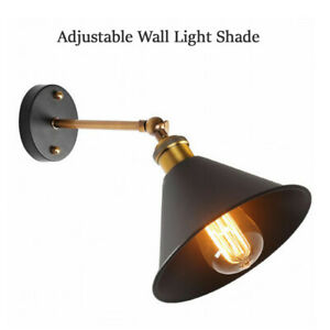 Modern-Vintage-Retro-Lampshade-Industrial-Rustic-Sconce-Wall-Fitting-Lighting-UK