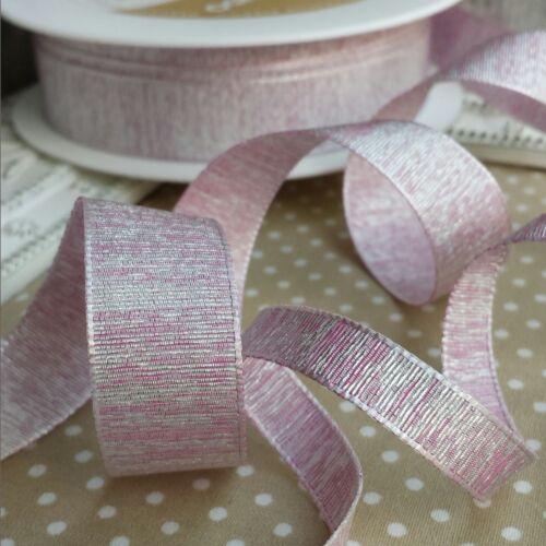 9 18mm Quality Metallic Weave Ribbon Wedding bridal invitation glitter bride