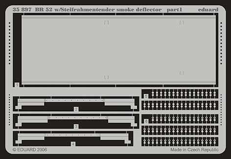 Eduard Accessories 35897 - 1:35 Br 52 Smoke Deflector Für Trumpeter-Bausatz - Ät