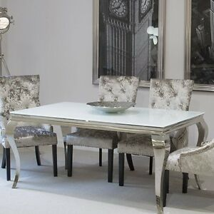 Image Is Loading Glass Dining Table Furniture Living Room Shabby Chic