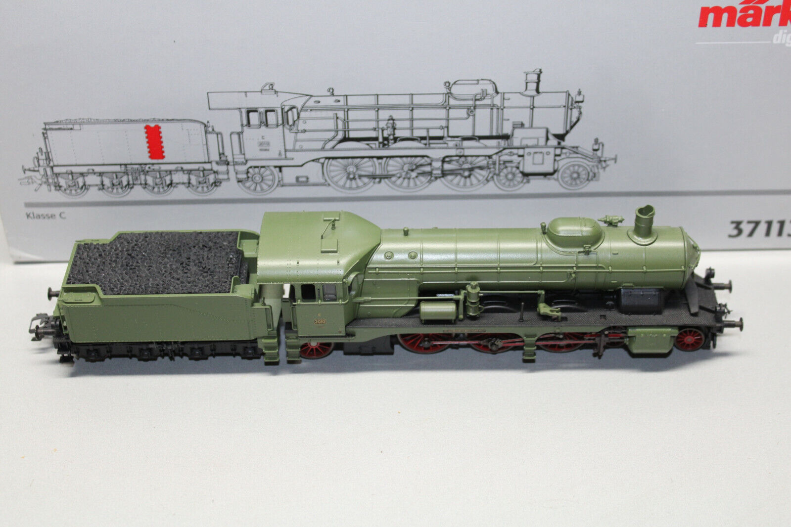Märklin 37113 Steam Locomotive ostale class C 2010 Württemberg Green Spur h0