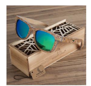 BIRD Polarized Wooden Bamboo Sunglasses Men Original UV Protection