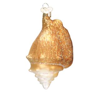 Old-World-Christmas-GOLDEN-SEASHELL-12178-N-Glass-Ornament-w-OWC-Box
