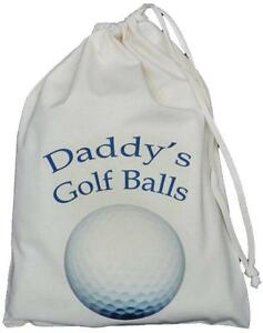 DADDY-039-S-GOLF-BALLS-BAG-SMALL-NATURAL-COTTON-DRAWSTRING-BAG-Blue-design
