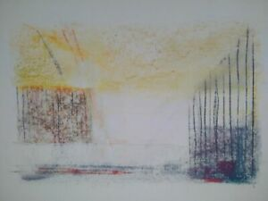 Rare-grand-dessin-fusain-geometrique-abstraction-lyrique-annees-40-50