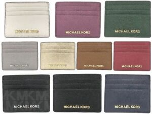 cd169d58d1a8e8 NWT Michael Kors Jet Set Travel Large Leather Credit Card Holder ...