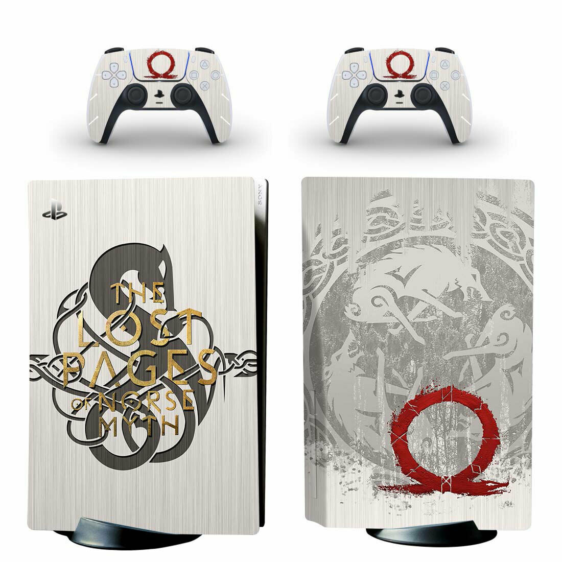 God of War Vinyl Decal Skin Sticker Full Set for PS5 PlayStation 5 Disc Version