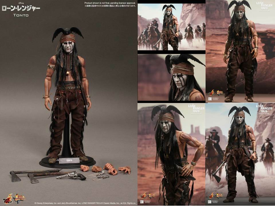 Hot Toys 1 6 Scale 12  The Lone Ranger-Tonto Johnny Depp-Sideshow