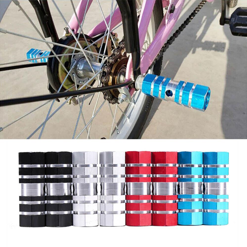 "2pcs Cycling BMX Bike Bicycle Cylinder Aluminum Alloy 3//8/"" Axle Foot Pegs SL"