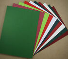 Cardmakers CHRISTMAS MEGA PACK A5 Cardstock Red Green Card (20)