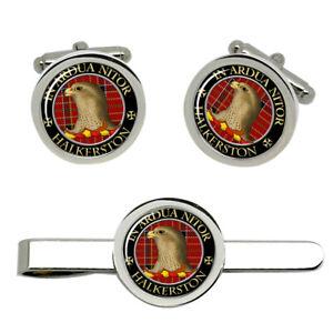 Halkerston-Scottish-Clan-Cufflinks-and-Tie-Clip-Set
