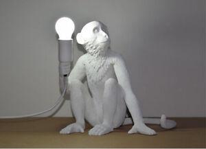 Image Is Loading Seletti Monkey Lamps White Monkey Sitting Lamp Designer