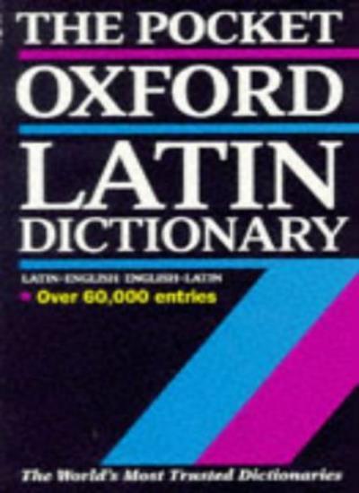 The Pocket Oxford Latin Dictionary,James Morwood- 9780198642282