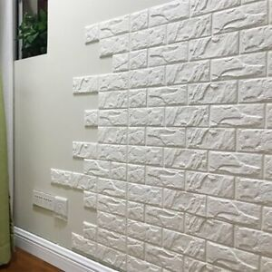 3d Wall Panel Peel And Stick Wallpaper Decor 30 X27 White Brick For Any Room Ebay