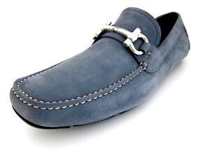 b22b7c6e769 Salvatore Ferragamo Parigi mens blue loafers shoes 8 D(M) US made in ...