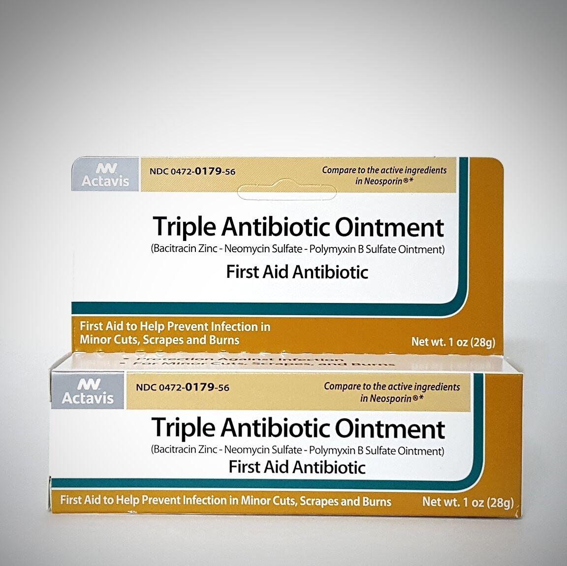 Actavis Triple Antibiotic Ointment 1oz 304720179566a250