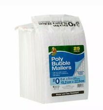 Duck 0 Poly Bubble Mailers 6 X 9 White Padded Self Sealing Envelopes 25 Pack