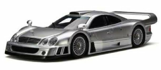 GT Spirit 154 Mercedes Benz CLK GTR Coche Modelo de Resina Plata Cuerpo Ltd Ed th