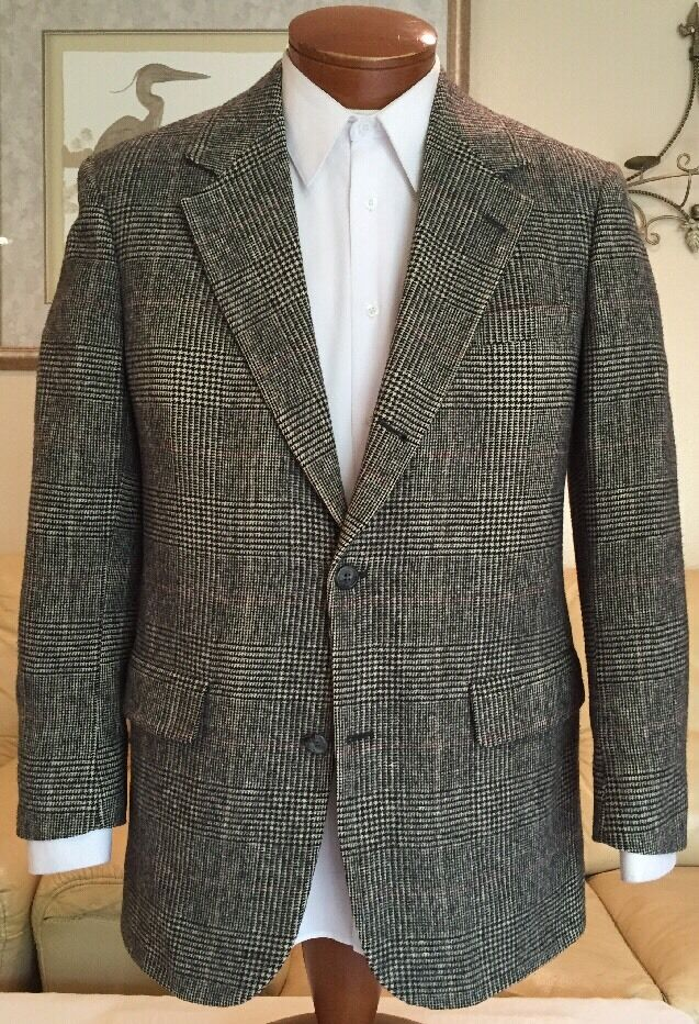 Brooks Brothers  Herren Glen Plaid 100% Camel Hair Blazer Sz 38 40 R Excellent