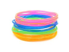 New High Quality 24 Piece Transparent Colored Jelly Bracelet Set #B1004-24