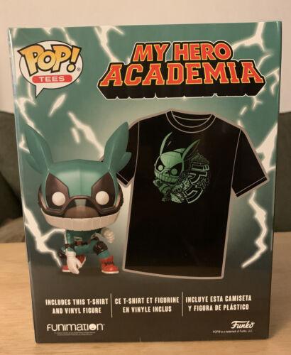 Funko Pop T-shirts mon héros Academia izuku midoriya Deku Vinyl et T-shirt FYE Limited XL