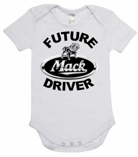 printed with FUTURE MACK DRIVER 100/% cotton BABY ONE PIECE ROMPER
