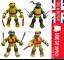 4 PCS Teenage Mutant Ninja Turtles Movie Action Figures UK SELLER