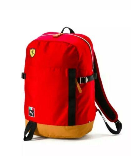Ferrari PUMA Fanware Fan Backpack Bag 2018 Red Black NEW Scuderia Cat Logo