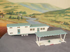 HO 1:87 BUILT Model Building Old Vintage PLASTICVILLE MOBILE HOME and PATIO