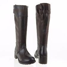 Damens's Braun Manas Emma Schuhes Braun Damens's Leder Knee High Stiefel Größe EU 36 284606
