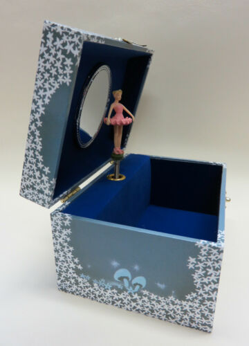 Spieldosen tanzende Ballerina und Sterne NEU süßes Schmuckkästchen Schatulle mit Spieluhr