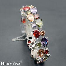 75% OFF BLACK FRIDAY DEAL .925 Sterling Silver Amethyst Garnet Bracelets 7''